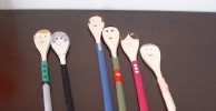 Wooden Spoon People Family Portrait