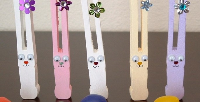 Finished clothespin bunnies