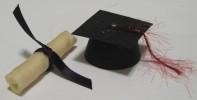 Cap and diploma graduation treats