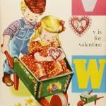 1940s Alphabet Poster V,W