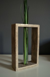 Transparent Glass Tube Vase