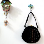 Black Velvet Embroidered Morris Moskowitz purse