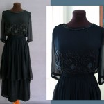 Edwardian Black Silk Dinner Dress