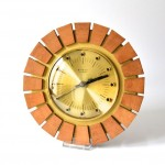 Teak East German Starburst Wall Clock